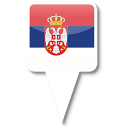128x128px size png icon of Serbia