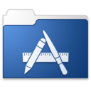 128x128px size png icon of Apps blue