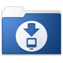 128x128px size png icon of Downloads blue