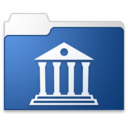 128x128px size png icon of Library blue