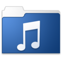 128x128px size png icon of Music blue