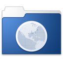 128x128px size png icon of Sites blue