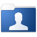 128x128px size png icon of User blue