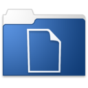 128x128px size png icon of documents blue