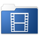 128x128px size png icon of movies blue