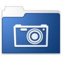 128x128px size png icon of pictures blue