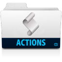 128x128px size png icon of action folder