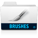 128x128px size png icon of brushes folder