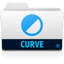 128x128px size png icon of curve folder