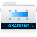 128x128px size png icon of gradient folder
