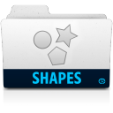 128x128px size png icon of shapes folder
