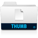 128x128px size png icon of thumb folder