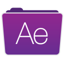 128x128px size png icon of After Effects Folder