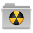 128x128px size png icon of Burn Folder Badged