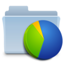 128x128px size png icon of Charts Folder