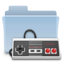 128x128px size png icon of Games Folder Badged