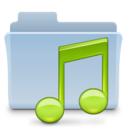 Music Folder Badged Icon