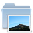 128x128px size png icon of Pictures Folder Badged Alt