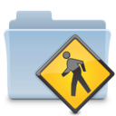 128x128px size png icon of Public Folder Badged