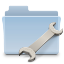 128x128px size png icon of Utilities Folder Badged