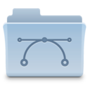 128x128px size png icon of Vectors Folder 2