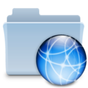 128x128px size png icon of iDisk Folder Badged