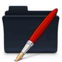 128x128px size png icon of Bitmaps Folder Badged