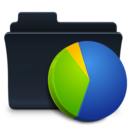 128x128px size png icon of Charts Folder Badged