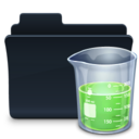 128x128px size png icon of Experiments Folder Badaged