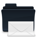 128x128px size png icon of Mail Folder Badged