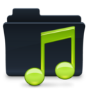 128x128px size png icon of Music Folder Badged