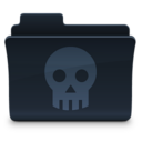 128x128px size png icon of Skull Folder