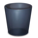Trash Empty Onyx Icon