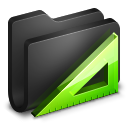 Applications Black Folder Icon