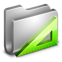 128x128px size png icon of Applications Metal Folder