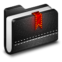 128x128px size png icon of Bookmark Black Folder