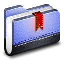 128x128px size png icon of Bookmark Blue Folder