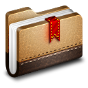 128x128px size png icon of Bookmark Brown Folder