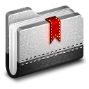 128x128px size png icon of Bookmark Metal Folder
