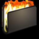 128x128px size png icon of Burn Black Folder
