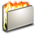 128x128px size png icon of Burn Metal Folder