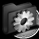 128x128px size png icon of Developer Black Folder