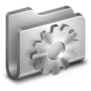 128x128px size png icon of Developer Metal Folder