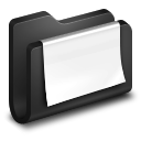 128x128px size png icon of Documents Black Folder