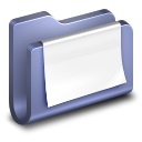 128x128px size png icon of Documents Blue Folder
