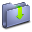128x128px size png icon of Downloads Blue Folder