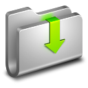 128x128px size png icon of Downloads Metal Folder