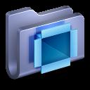 128x128px size png icon of DropBox Blue Folder