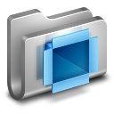 128x128px size png icon of DropBox Metal Folder