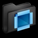 128x128px size png icon of Dropbox Black Folder